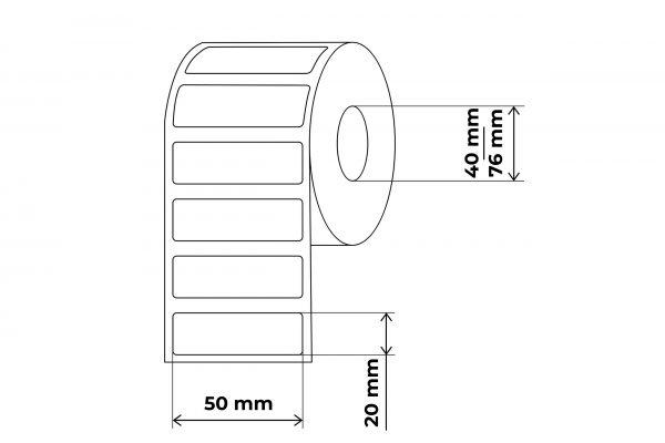 propakas lipnių etikečių maketas 50x20mm