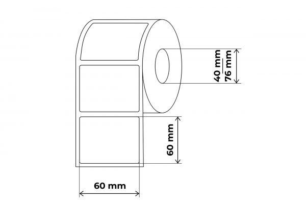 propakas lipnių etikečių maketas 60x60mm