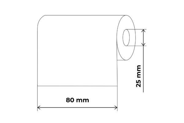 Propakas dažanti juostelė (kalkė) 80mm