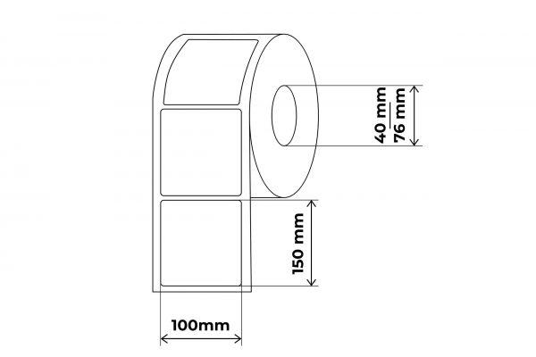 propakas 100x150 lipnių etikečių maketas