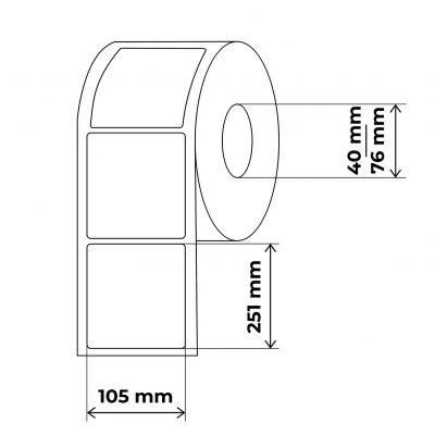propakas 105x251 lipnių etikečių maketas