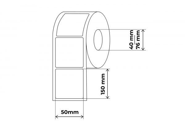 propakas lipnių etikečių maketas 50x150