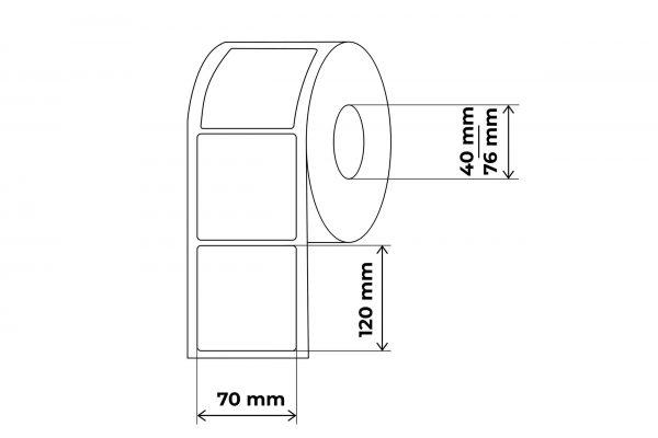 propakas 70x120 lipnių etikečių maketas