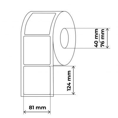 propakas lipnių etikečių maketas 81x124mm