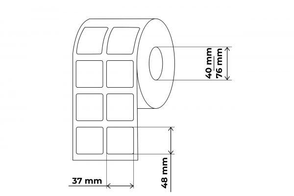 propakas 37x48 lipnių etikečių maketas